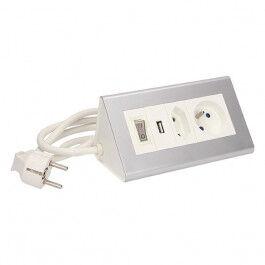 Bloc multiprise prise type E, prise type C, USB et tnterrupteur - Orno