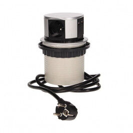 Bloc prises escamotables 3x 250V + 2 prises USB - Orno