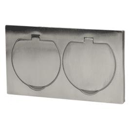 Double bloc de prises hermétique pour sol ou plan de travail - Orno