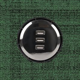 Chargeur de table encastré avec 3 ports USB - ORNO