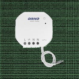 Mini module relais 400W avec récepteur radio compatible Orno Smart Home et RFXCom - Orno