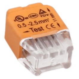 Bornier de connexion rapide 2 bornes - Orno