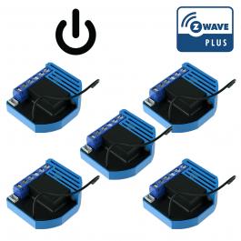 Pack de 5 modules encastrables 1 relai Z-Wave