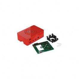 Boîtier assemblé avec bouton d'alimentation intégré couleur rouge