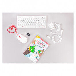 Kit Raspberry Pi 400 avec alimentation, câble, souris officielle et carte micro SD 16GB - Raspberry