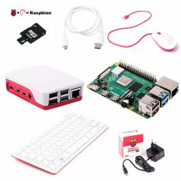 Pack de démarrage Raspberry Pi 4 version 2 GO avec Clavier, Souris et connectiques - RASPBERRY