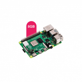Kit de démarrage Starter Raspberry Pi 4 version 8 GO avec boîtier, carte et connectiques - RASPBERRY