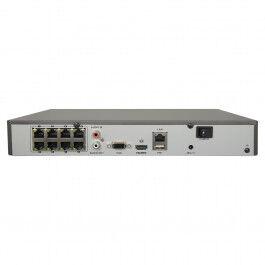 Enregistreur NVR pour 8 caméras IP H.265+ max 8Mpx version PoE - Safire