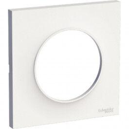 Plaque de finition blanche pour interrupteur Odace - Schneider