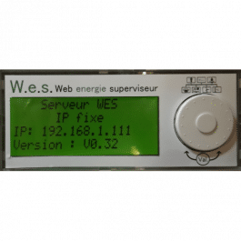 Afficheur LCD pour Web Energie Superviseur WES
