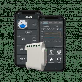 Ampèremètre triphasé avec 3 pinces 120A compatible Wi-Fi - Shelly