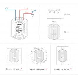 Variateur wifi encastrable pour LED et incandescent - Sonoff