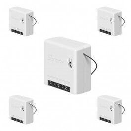 Lot de 5 Micromodules ON/OFF WiFi avec deux entrées interrupteur format Mini - Sonoff