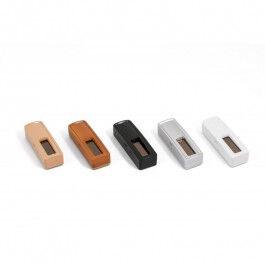 Sonde de température et hygrométire sans piles EnOcean bois clair - Ubiwizz