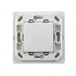 Interrupteur blanc 1 touche sans plaque - support blanc