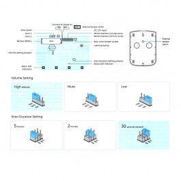 Sirène extérieure solaire sans fil 110 dB - Visiotech