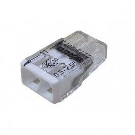 Lot de 100x connexions automatiques 2 bornes - Wago