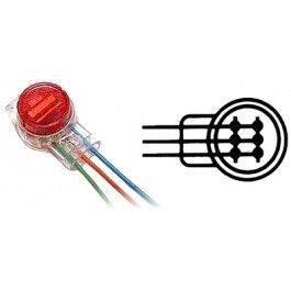Raccord télécom étanche 3 connecteurs - Wizelec
