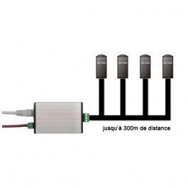 Lecteur de températures Ethernet jusqu'à 4 sondes 1Wire - Wizelec