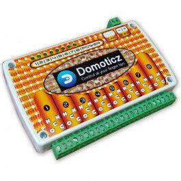 Carte de contrôle huit relais sur Ethernet avec support DIN - Wizelec