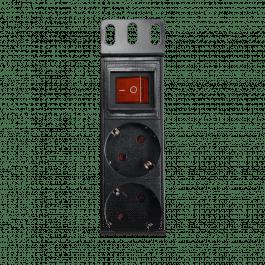 Multiprise avec interrupteur et 9 sorties 230VAC 16A - Wizelec