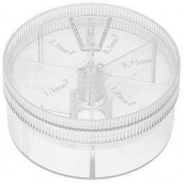 Coffret d'assortiment d'embouts de câbles 5 compartiments - Wizelec