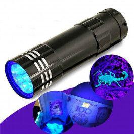 Lampe ultraviolet 9 leds aluminium - Wizelec