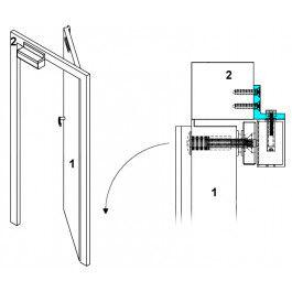 Cornière en L pour installation ventouse magnétique  - YouFores