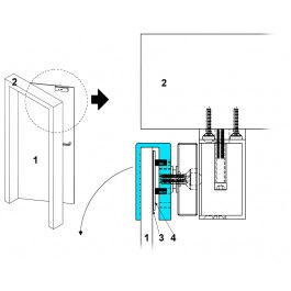 Cornière en U pour installation ventouse magnétique  - YouFores