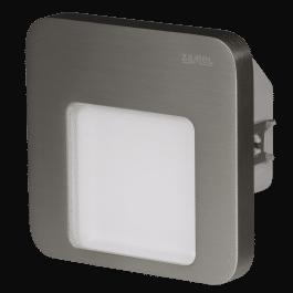 Lampe LED blanc chaud encastrée 230 VAC finition acier - Zamel