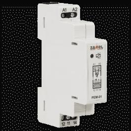 Relais électromagnétique 230VAC 16A format RAIL DIN - Zamel