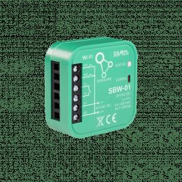 Module encastrable 1 canal WiFi pour motorisation de portail gamme Supla - Zamel