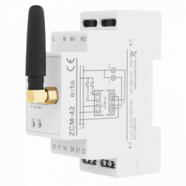 Programmateur WiFi 16A avec 2 sorties NO/NC format Rail DIN - Zamel