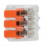 Bornier de connexion rapide à levier 3 bornes - Orno