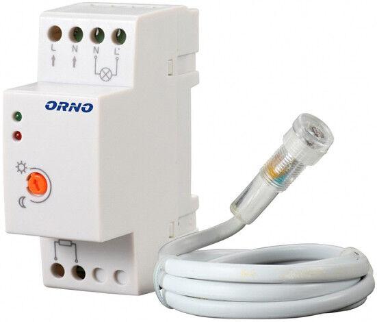 Détecteur crépusculaire rail DIN avec capteur externe ORNO