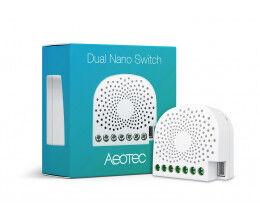 Micromodule commutateur Z-Wave+ Dual Nano Switch avec consomètre - Aeon Labs