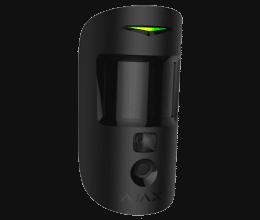 Détecteur de mouvement PIR avec caméra intégrée couleur noir - Ajax Systems