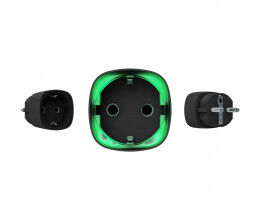 Prise intelligente sans fil noire avec mesure de la consommation - Ajax Systems