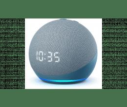 Assistant vocal Amazon Echo Dot 4 avec Horloge couleur bleu gris - Amazon