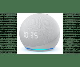 Assistant vocal Amazon Echo Dot 4 avec Horloge couleur blanc - Amazon