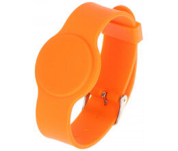 Bracelet RFID couleur orange compatible Mifare 13.56Mhz - Atlo