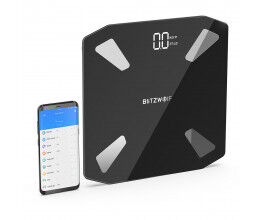 Balance connectée WiFi avec 13 mesures corporelles couleur noire - Blitzwolf