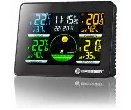 Station météo avec thermomètre et hygromètre sur 4 zones - Bresser