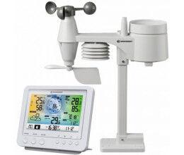 Station météo WiFi blanche avec capteur 5 en 1 et écran en couleur - Bresser