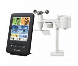 Station météo WiFi noire professionnelle avec capteur 5 en 1 et écran en couleur - Bresser