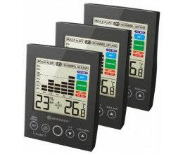 Lot de 3 Hygromètres avec affichage numérique LCD noir - Bresser