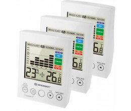Lot de 3 Hygromètre avec affichage numérique LCD blanc - Bresser