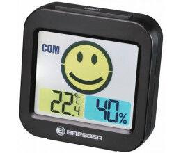 Thermomètre et Hygromètre avec indicateur de climat intérieur noir - Bresser