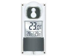 Thermomètre de fenêtre solaire avec fixation ventouse - Bresser