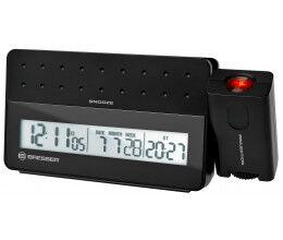 Réveil digital radio piloté avec projecteur et port USB pour smartphone - Bresser